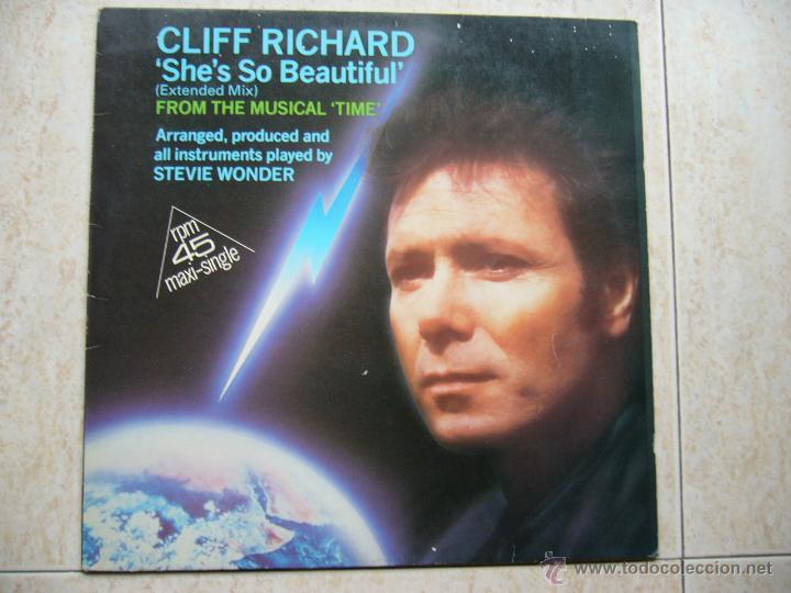 CLIFF RICHARD - SHE'S SO BEAUTIFUL (Música - Discos de Vinilo - Maxi Singles - Pop - Rock Internacional de los 50 y 60)