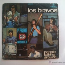 Discos de vinilo: LOS BRAVOS - PEOPLE TALKING AROUND. Lote 46585536