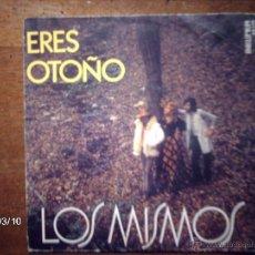 Discos de vinilo: LOS MISMOS - ERES OTOÑO + EN UN LUGAR TRANQUILO. Lote 46588777