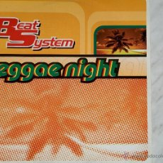 Discos de vinilo: BEAT SYSTEM. REGGAE NIGHT. MAXI.. Lote 46591923