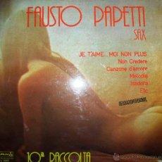 Discos de vinilo: FAUSTO PAPETTI - SAX 1979. Lote 46597214
