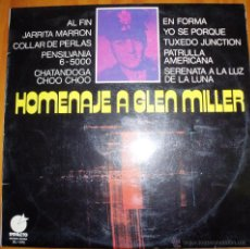 Discos de vinilo: MEMPHIS MAKER & ORCHESTRA - HOMENAJE A GLEN MILLER. Lote 46597221