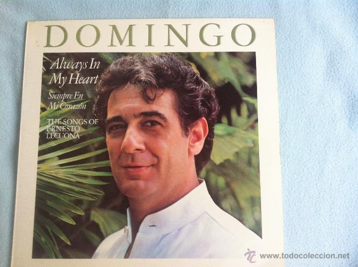 Discos de vinilo: LP PLACIDO DOMINGO-ALWAYS IN MY HEART - Foto 1 - 46601023