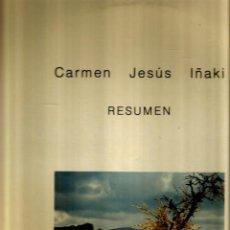 Discos de vinilo: CARMEN, JESUS E IÑAKI : RESUMEN ( CANCION SOCIAL Y FOLK DE LA RIOJA ) MACHADO, BERTOLD BRECHT, ETC. Lote 46605224