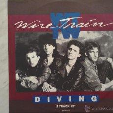 Discos de vinilo: WIRE TRAIN. DIVING/FLOWERS, MERCY MERCY. MAXI.. Lote 46605927
