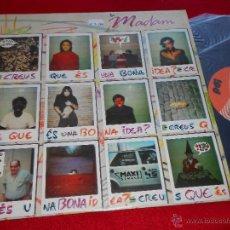 Discos de vinilo: LA MADAM CREUS QUE ES UNA BONA IDEA?/A LES 8 DEL MATI/UNA BONA IDEA (REPRISE) 12 MX 1988 POP CATALA. Lote 46611716