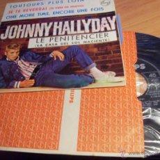 Discos de vinilo: JOHNNY HALLYDAY ( LE PENITENCIER + 3) EP ESPAÑA 1964 (EX+/EX+) (EP10). Lote 46619021