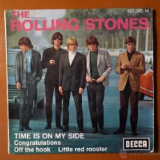 Discos de vinilo: THE ROLLING STONES, TIME IS ON MY SIDE, DECCA FRANCIA, 457.050M. Lote 46619628