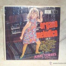 Discos de vinilo: JUAN TORRES--ORGANO MELODICO VOL. 3 ..MUSART MEXICO..AÑOS 70. Lote 46620410