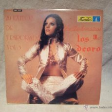 Discos de vinilo: LOS DEORO -LOS DIPLOMATICOS..1973 ..20 EXITOS DE TEMPORADA VOL 3--DISCOS FUENTES ECUADOR..RARO. Lote 46620529