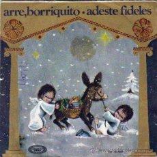 Discos de vinilo: VILLANCICOS ARRE BORRIQUITO,ADESTE FIDELES,MOVIEPLAY 1970, ORFEON INFANTIL ESPAÑA, ILUSTRA MOL-RUIZ. Lote 46621286