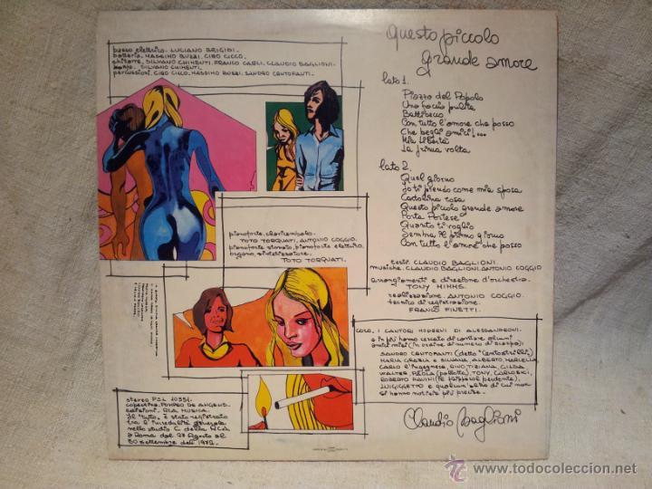 Discos de vinilo: Claudio Baglioni - Questo Piccolo Grande Amare rca 1972 - Foto 2 - 46621530