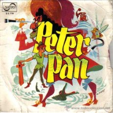 Discos de vinilo: PETER PAN,DISCO-CUENTO VERSION DE SERGIO SCHAFF,ZAFIRO 1966, TEATRO INVISIBLE RNE EN BARCELONA. Lote 46621761