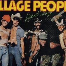 Discos de vinilo: VILLAGE PEOPLE DOBLE LP 33 EN DIRECTO NUEVO. Lote 46624672