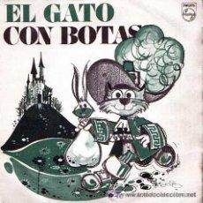 Discos de vinilo: EL GATO CON BOTAS,DISCO CUENTO PHILIPS, 1969, PROMOCION QUESITOS MG,NARRA MARÍA ELENA DOMENECH.. Lote 48457890