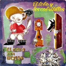 Discos de vinilo: EL LOBO Y LOS CABRITILLOS,CABRITITOS, EL GATO CON BOTAS DISCOPHON 1961. Lote 36638579