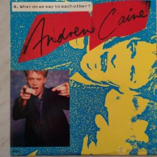 Discos de vinilo: ANDREW CAINE. WHAT DO WE SAY TO EACH OTHER?. MAXI. Lote 46631709