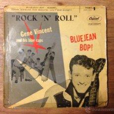 Discos de vinilo: GENE VINCENT - EP EDICION ESPAÑOLA - DISCO ULTRA DIFICIL 1957. Lote 46634332