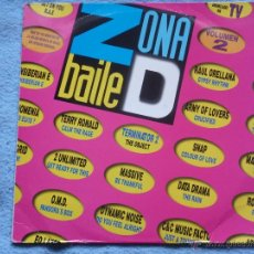 Discos de vinilo: ZONA DE BAILE VOL.2 VARIOS DEL 92 2 LP. Lote 191036711