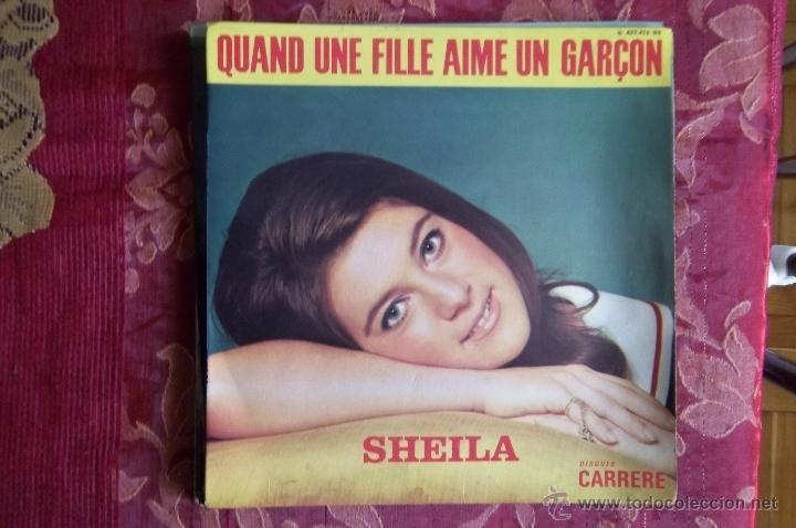 SHEILA,-CARRERE ,FRANCES-QUAND UNEFILLE AIME UN GARCON...ETC 4 TEMAS (Música - Discos de Vinilo - EPs - Canción Francesa e Italiana)