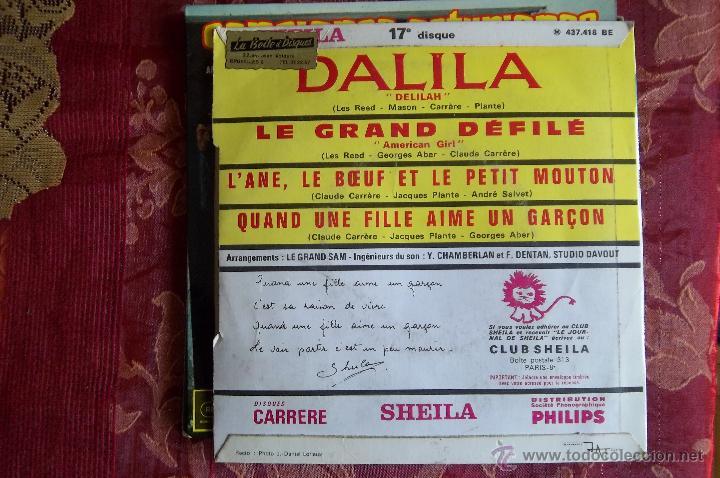Discos de vinilo: Sheila,-Carrere ,frances-Quand unefille aime un garcon...etc 4 temas - Foto 2 - 46640285