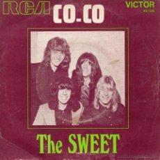 Discos de vinilo: SWEET, SG, CO - CO + 1, AÑO 19?? MADE IN FRECH (FRANCE). Lote 46641489