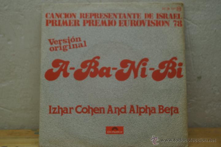 A- BA -NI-BI - IZHAR COHEN AND ALPHA BETA -PRIMER PREMIO EUROVISION 1978- VERSION ORIGINAL- (Música - Discos - Singles Vinilo - Festival de Eurovisión)