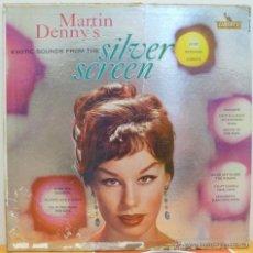 Dischi in vinile: MARTIN DENNY'S EXOTICS SOUNDS FROM THE SILVER SCREEN (LP LIBERTY 1960 USA) VINILO EN MUY BUEN ESTADO. Lote 46645132