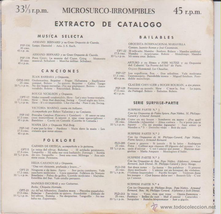 Discos de vinilo: VICTORIA MARINO - CASETTA IN CANADA - PESCAVA I GAMBERI - BAMBINO - EP SPAIN 1957 EX / VG++ - Foto 2 - 46645711