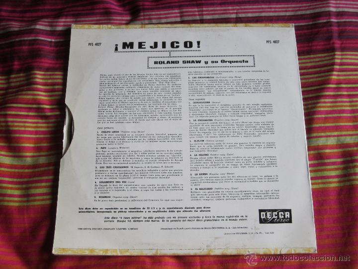 Discos de vinilo: ROLAND SHAW Y SU ORQUESTA - MEXICO! 12 LP - Foto 2 - 46648343