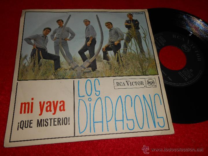 LOS DIAPASONS MI YAYA/¡QUE MISTERIO! 7 SINGLE 1966 RCA VICTOR (Música - Discos - Singles Vinilo - Grupos Españoles 50 y 60)