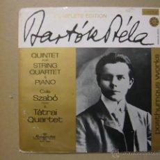 Discos de vinilo: BARTOK BELA, COMPLETE EDITION. POSTHUMOUS WORKS. QUINTET FOR STRING QUARTET & PIANO. Lote 46664811