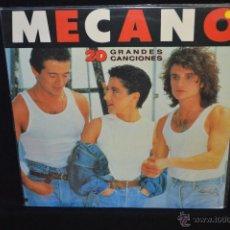Discos de vinilo: MECANO - 20 GRANDES CANCIONES - LP. Lote 46674730