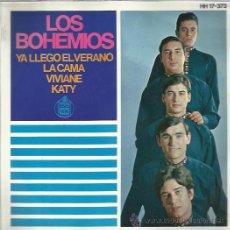 Discos de vinilo: LOS BOHEMIOS EP HISPAVOX YA LLEGO EL VERANO/ LA CAMA/ VIVIANE/ KATY BEAT GARAGE MOD. Lote 46674938