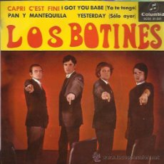 Discos de vinilo: LOS BOTINES EP COLUMBIA CAPRI C'EST FINI/ I GOT YOU BABE/ YESTERDAY (BEATLES) / +1 BEAT MOD. Lote 46675289