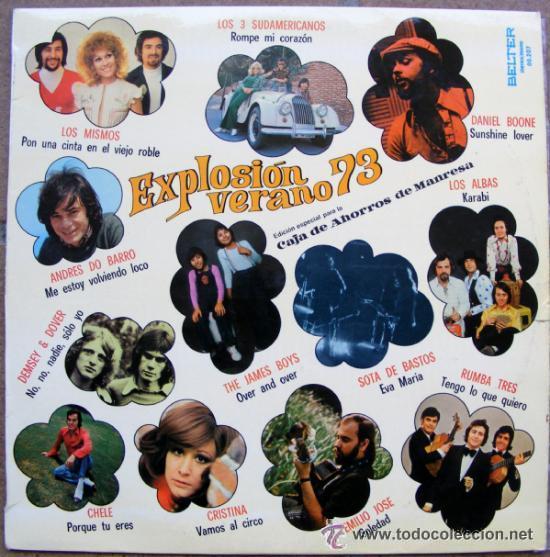 VA - EXPLOSION VERANO 73 - LP 1973 (Música - Discos - LP Vinilo - Grupos Españoles de los 70 y 80)