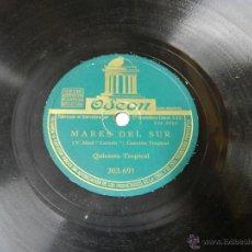 Discos de vinilo: DISCO DE PIZARRA NOCHES DE VERACRUZ / MARES DEL SUR, QUINTETO TROPICAL, 203961, ED. ODEON, BUEN ESTA. Lote 46690323