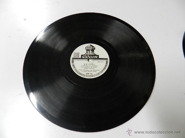 Discos de vinilo: DISCO DE PIZARRA LUIS ROVIRA Y SU ORQUESTA, BRASIL / PARA EL RANCHO ME VOY, ED. ODEON, 203851. - Foto 2 - 46691762