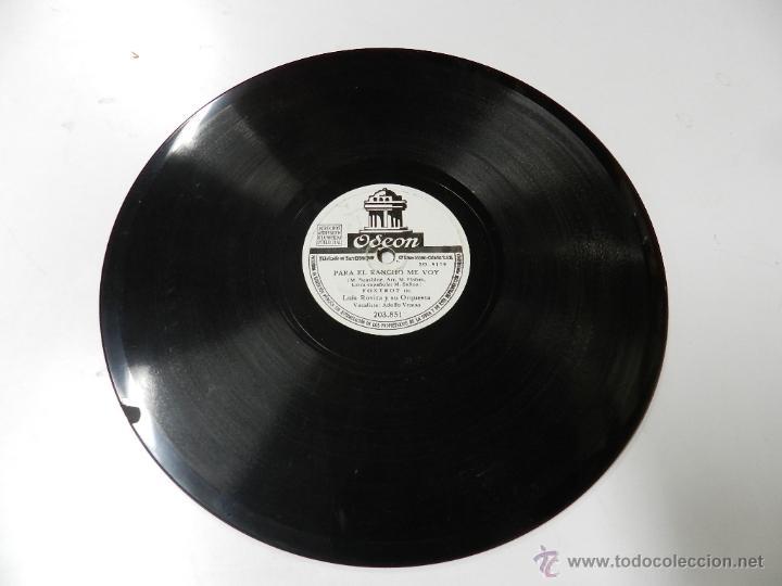 Discos de vinilo: DISCO DE PIZARRA LUIS ROVIRA Y SU ORQUESTA, BRASIL / PARA EL RANCHO ME VOY, ED. ODEON, 203851. - Foto 4 - 46691762