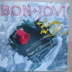 Discos de vinilo: BON JOVI LIVING IN SIN, VERTIGO 1989. Lote 46692682