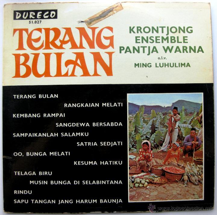 KRONTJONG ENSEMBLE PANTJA WARNA (FOLK INDONESIA) - TERANG BULAN - LP DURECO BPY (Música - Discos - LP Vinilo - Étnicas y Músicas del Mundo)