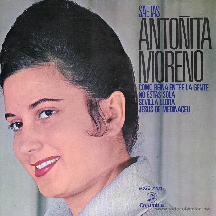 ANTOÑITA MORENO SAETAS 1960 COLUMBIA ECGE 71474 (Música - Discos de Vinilo - EPs - Flamenco, Canción española y Cuplé)
