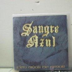 Disques de vinyle: SANGRE AZUL - CIEN AÑOS DE AMOR / SOLO ROCK AND ROLL - HISPAVOX 1989. Lote 46708600