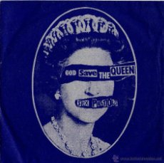 Discos de vinilo: SINGEL DE LOS PUNK, SEX PISTOLS, AÑO 1977 DIOS SALVE A LA REINA-GOD SAVE THE QUEEN,TAPA AZUL -VIRGIN. Lote 46720699