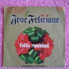 Discos de vinilo: JOSE FELICIANO 1971 RCA 10676 FELIZ NAVIDAD EL PEQUEÑO TAMBORILERO DISCO VINILO. Lote 46728621
