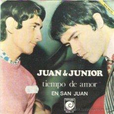 Discos de vinilo: JUAN & JUNIOR SG NOVOLA 1968 TIEMPO DE AMOR / EN SAN JUAN BRINCOS SOFT POP POPSIKE. Lote 46730947