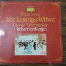 Discos de vinilo: FRANZ LEHAR-DIE LUSTIGE WITWE-HERBERT VON KARAJAN- BERLINER PHILHARMONIKER. Lote 46731413