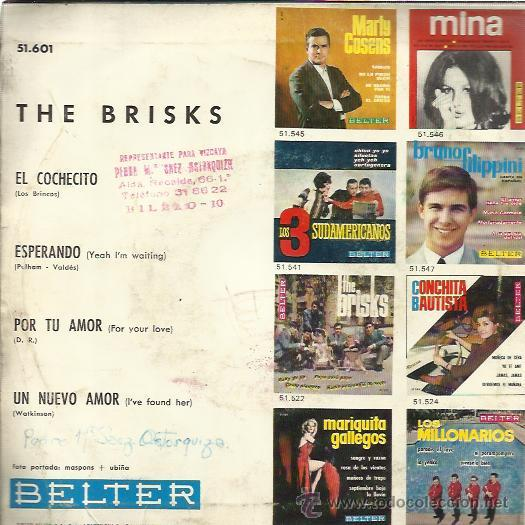 Discos de vinilo: THE BRISKS EP BELTER 1965 el cochecito (los brincos) / esperando/ por tu amor (yardbirds) un nuevo.. - Foto 2 - 46732322
