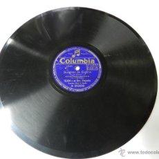 Discos de vinilo: DISCO DE PIZARRA SUSPIROS DE ESPAÑA / MALAJE - PASODOBLE, TEJADA Y SU ORQUESTA, A 2568, ED. COLUMBIA. Lote 46733133