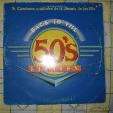 Discos de vinilo: BACK TO THE 50´S , 34 CANCIONES ORIGINALES , 2LP. Lote 62578743
